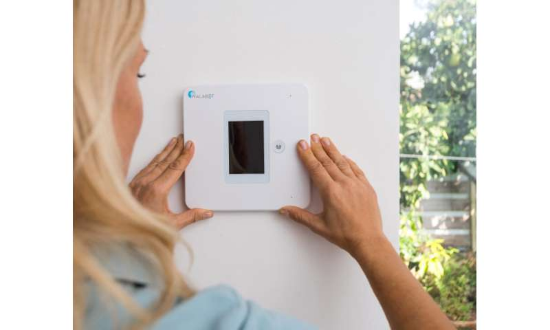 Automatic fall detector attaches to wall, no wearable needed