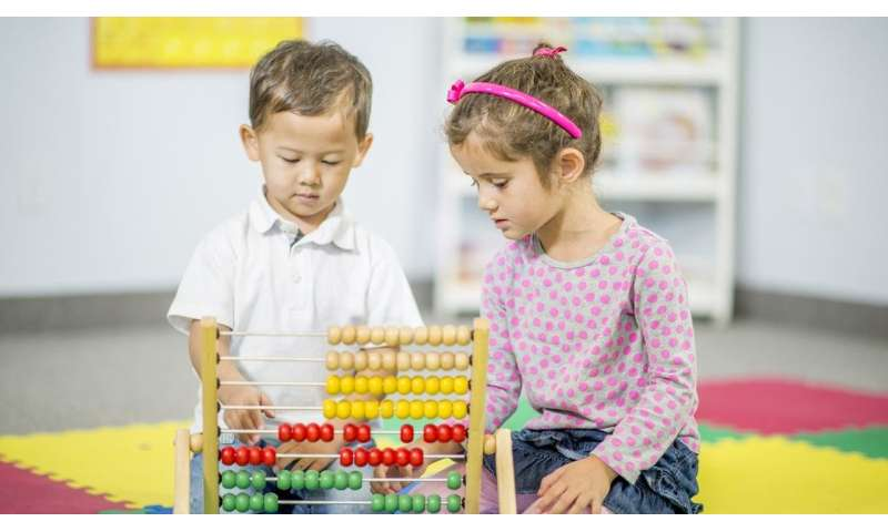 Boys and girls share similar math abilities at young ages, study finds