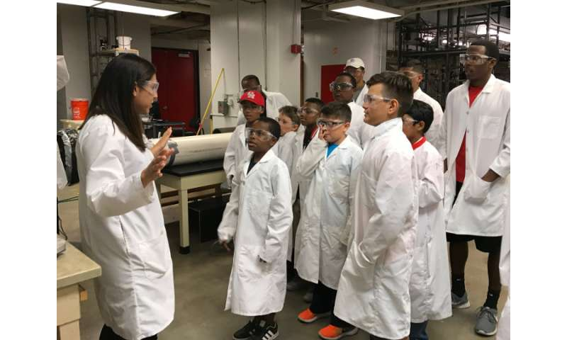 Boys, fathers and mentors work together for STEM engagement