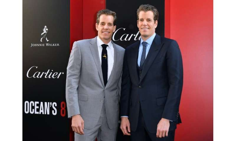 Cameron and Tyler Winklevoss, seen at the premiere of the film Ocean's 8 in New York, have been seeking to make bitcoin more pop
