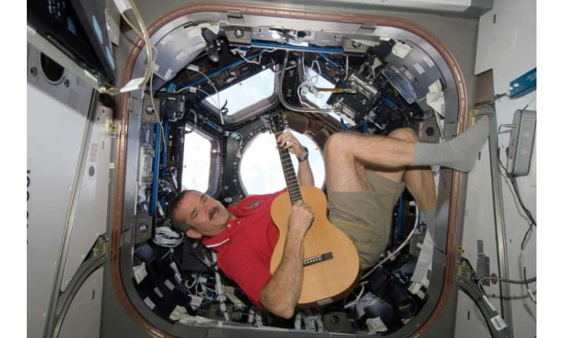 "Canadian astronaut Chris Hadfield—made ​​famous for his rendition of the David Bowie song ""Space Oddity"" while aboard"