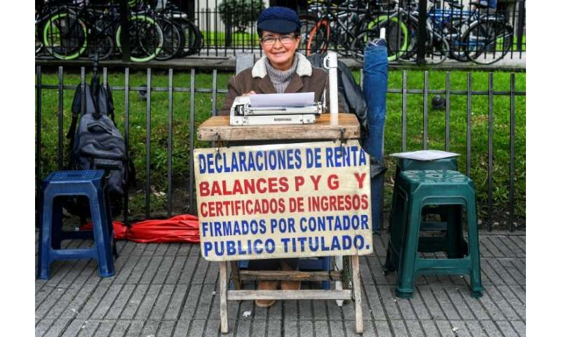 Candelaria Pinilla de Gomez, 63, has been working as a street clerk in Bogota for some 40 years