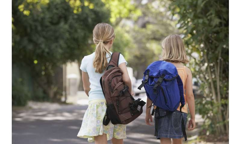 Carrying backpacks doesn't cause back pain in children and teenagers