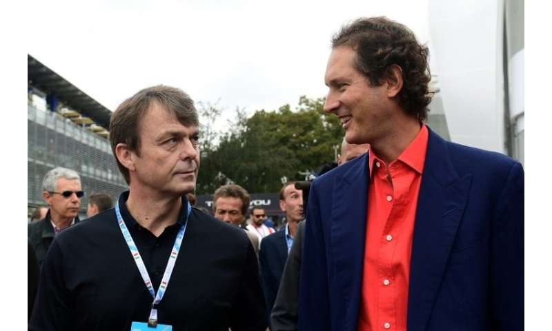 CEO of Fiat Chrysler Michael Manley, pictured (L) with new Ferrari Chairman John Elkann, said the deal will boost growth at Magn