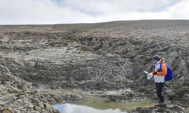 Changing landscape means some Arctic ponds may potentially be a significant source of carbon emissio