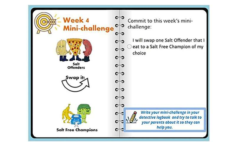 Children can learn ways to significantly reduce salt usage