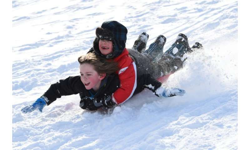 Children in Glasgow enjoyed the snow