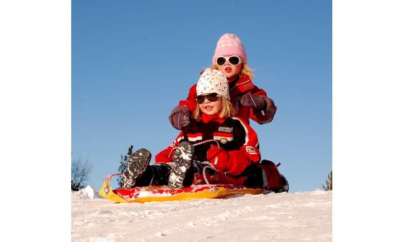 children snow