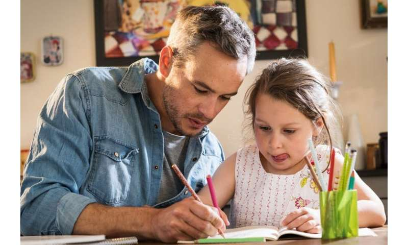 Children's well-being goes hand in hand with their dads' mental health