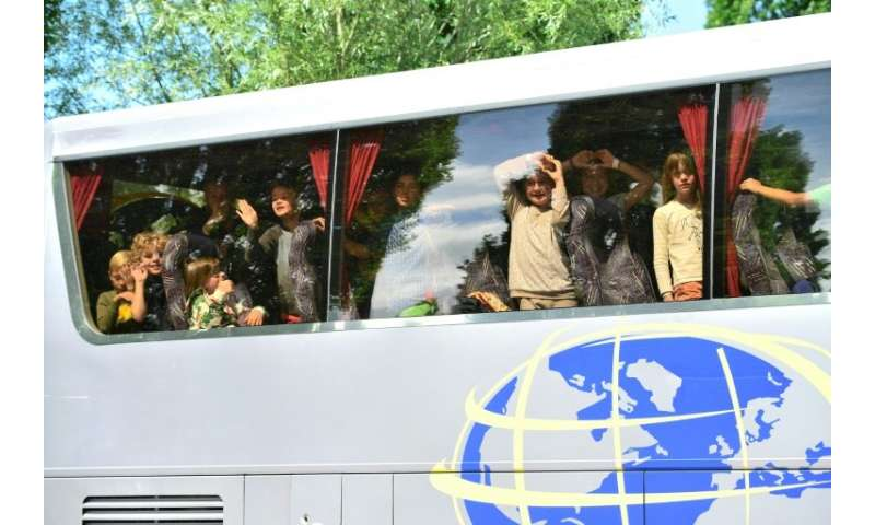 Children who arrived at the zoo for a school trip were stopped from getting off their coach