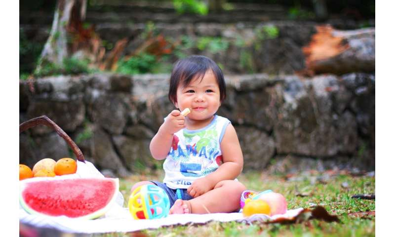 child sweets eating