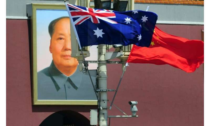 China-Australia ties have been strained recently over Beijing's alleged interference in domestic politics