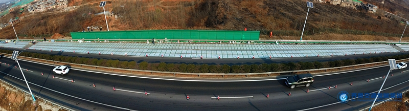 China's solar highway ambitions are seen in Jinan stretch