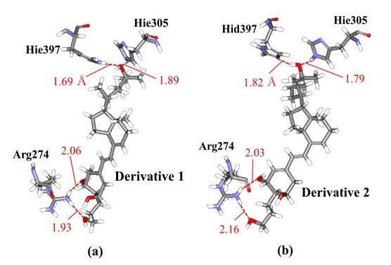 Chirality of vitamin-D derivative affects the protonation states of its receptor protein