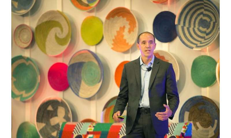 Chris Lehane, Airbnb's head of policy, speaking at an African tourism conference organised by Airbnb in Cape Town