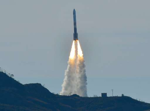 Classified US satellite launched from California after delay