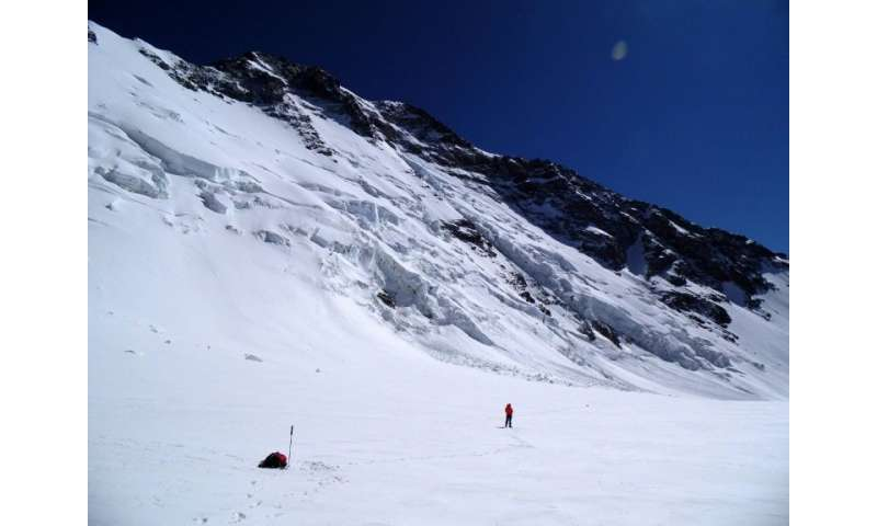 Climatologist professor Fabrice Lambert says dust from the mining industry is a danger to Chile's glaciers