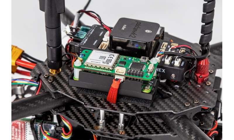 Controlling drones via voice channels