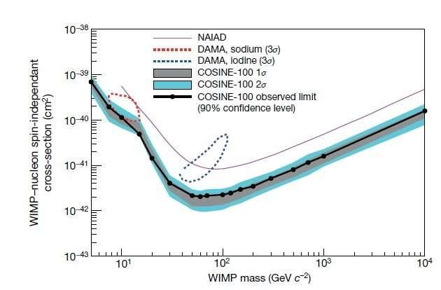 COSINE-100 experiment investigates dark matter mystery