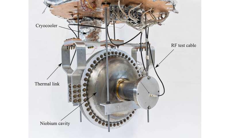Cryocooler cools an accelerator cavity