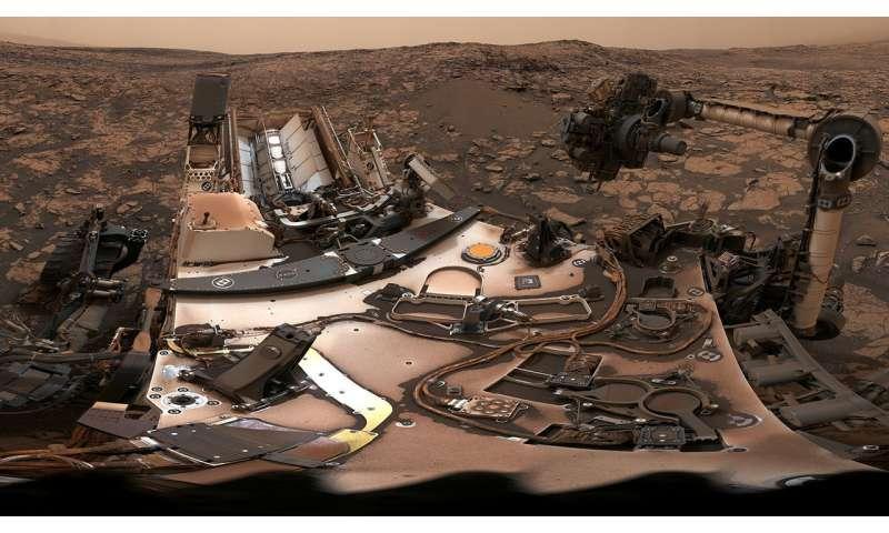 Curiosity surveys a mystery under dusty skies