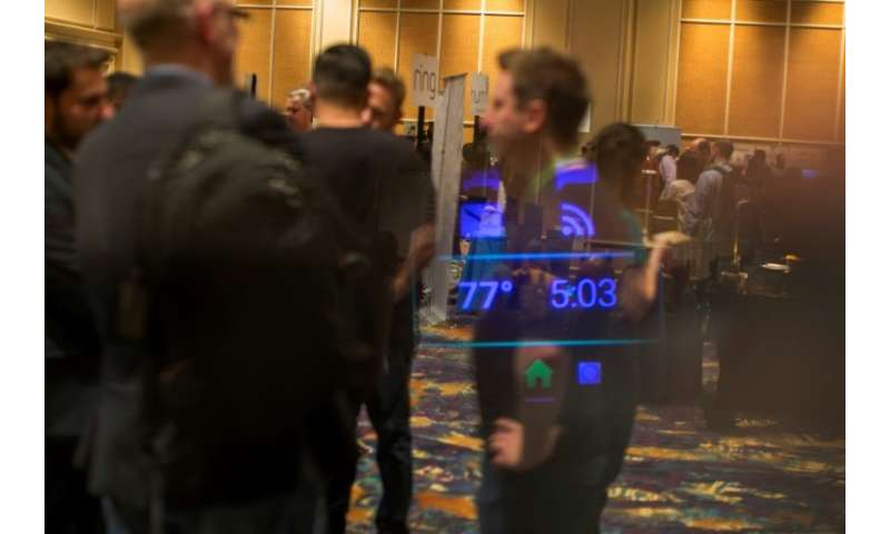 Data is seen through Vuzix augmented reality smart glasses.