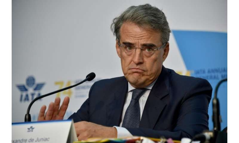 De Juniac said IATA still hoped for a comprehensive agreement including aviation