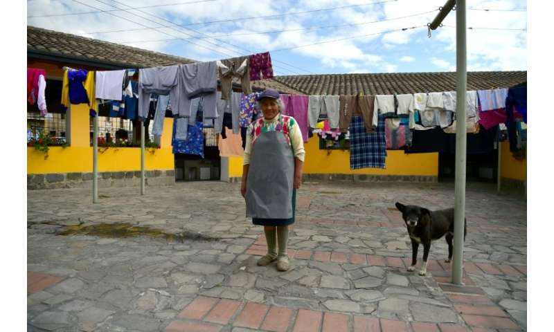 Delia Veloz, 74, is one of the few people left in Ecuador who still practises the ancient and demanding work of a washerwoman