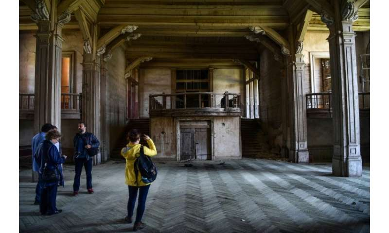 Despite its dilapidated state, some of the 220 rooms in the Prinkipo Greek Orthodox orphanage still retain vestiges of splendour