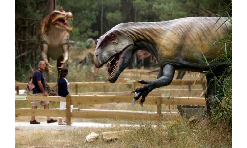Dino Park has 120 large-scale reproductions of 70 different species, says Simao Mateus, its scientific director