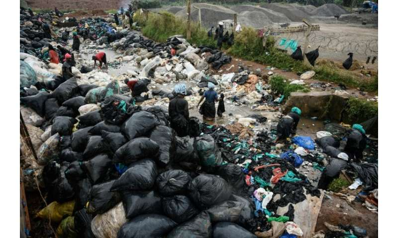 Discarded plastic is a biohazard that can take decades to degrade. But at this site in Kampala, Uganda, women clean plastic bags
