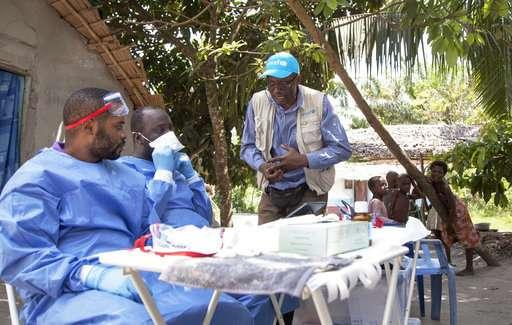 Ebola vaccinations begin in Congo's northwest town of Bikoro