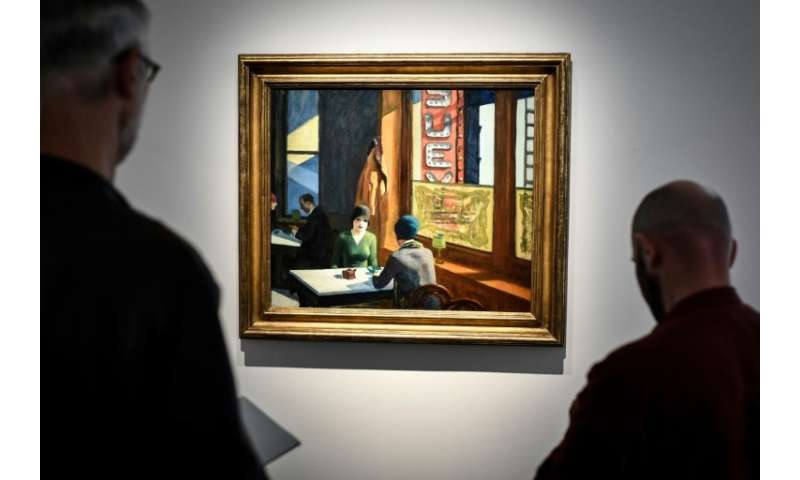 "Edward Hopper's 1929 painting ""Chop Suey"" sold at aunction in New York for $91.875 million after being valued pre-sale"