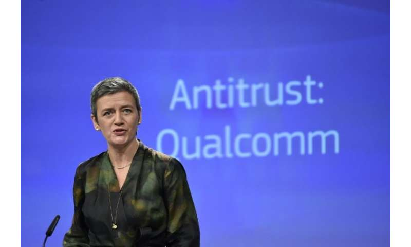 EU Competition Commissioner Margrethe Vestager announced the antitrust fine of 997 million euros ($1.2 billion)  against US chip