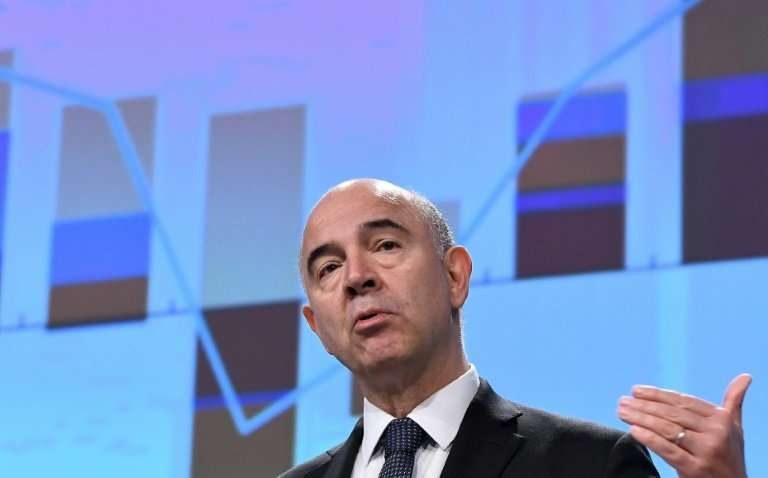EU Economic Affairs Commissioner Pierre Moscovici, pictured in November 2017, said that on average internet giants pay a tax rat