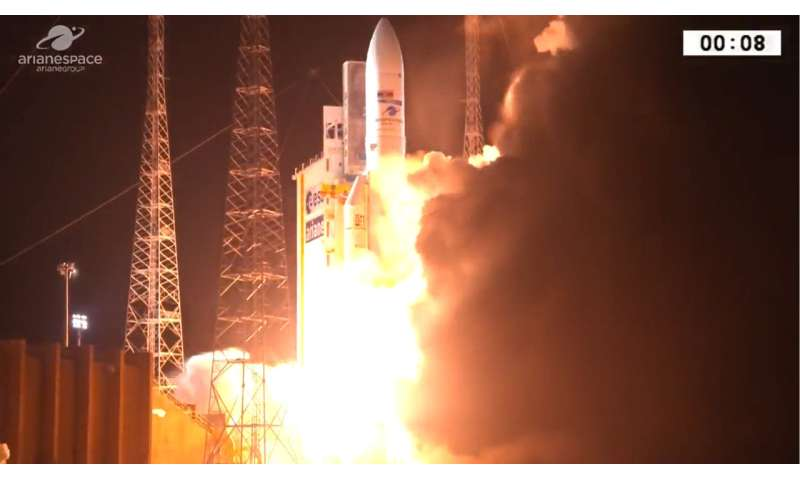 Europe's Ariane 5 rocket blasts off for 100th time