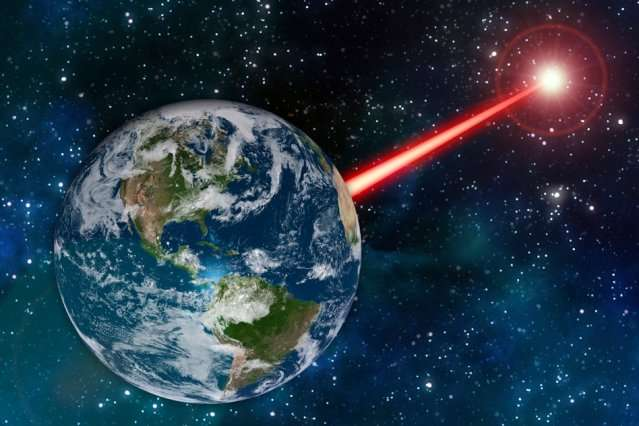"Existing laser technology could be fashioned into Earth's ""porch light"" to attract alien astronomers"