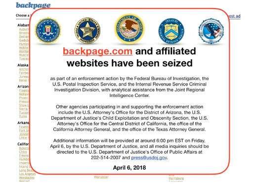 Feds seize Backpage.com, websites in enforcement action