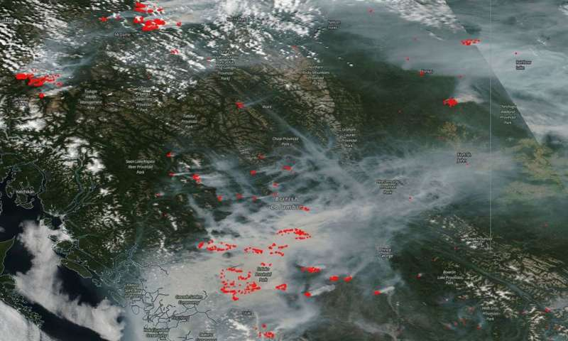 Fires overwhelming British Columbia; smoke choking the skies