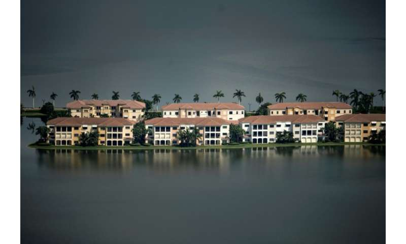 Flood damage from Hurricane Irma is seen September 14, 2017 in Naples, Florida