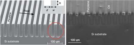 Flowing salt water over this super-hydrophobic surface can generate electricity