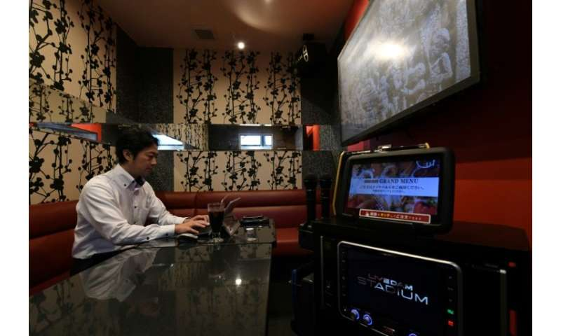 For 600 yen per hour ($5.30), users can practice their business presentations in a karaoke room complete with microphone and whi