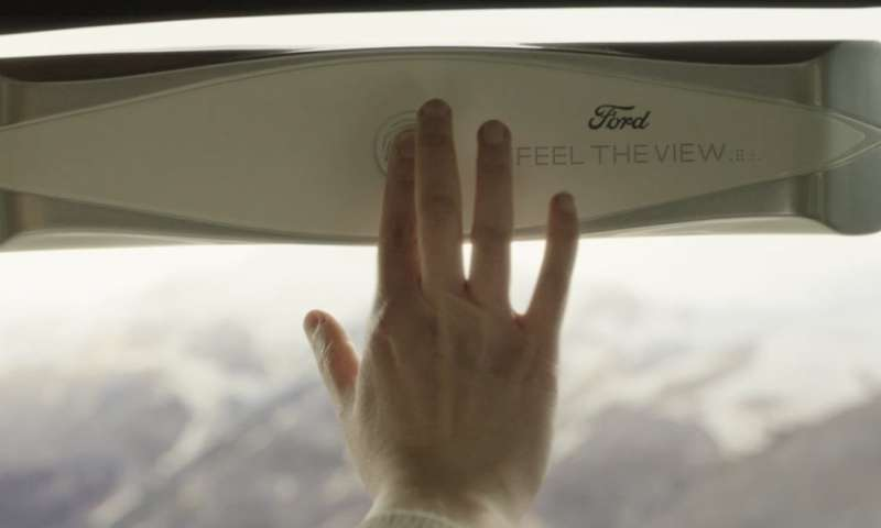For the blind, a device on car window delivers haptic experience of scenic view