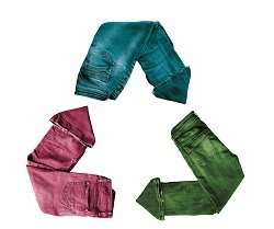 From jeans to fibres to garment tags—novel recycling for more sustainable fashion