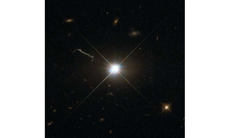 Gas Clouds Whirling Around Black Hole Form Heart Of