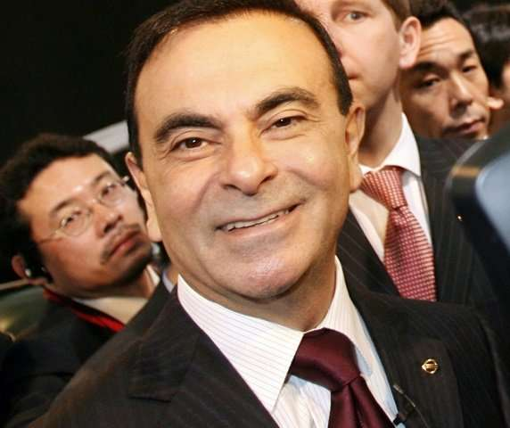 Ghosn in happier days