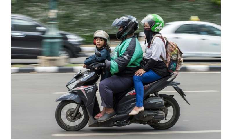 Go-Jek operates a fleet of motorcycle taxis, private cars and other services, from massage and house cleaning to grocery shoppin