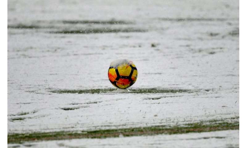 Heavy snow caused a Serie A football game between Juventus and Atalanta to be postponed in the northern Italy city of Turin on S