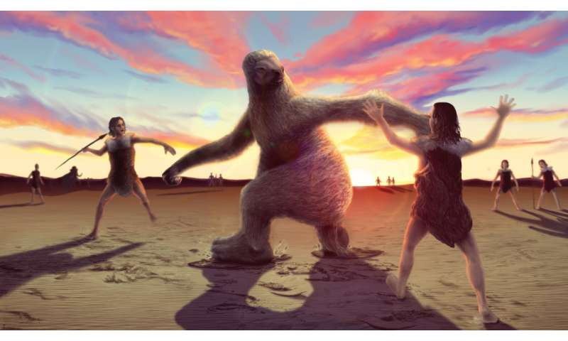 How to hunt a giant sloth – according to ancient humanfootprints