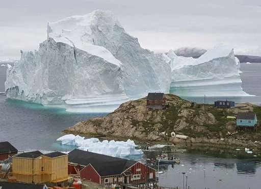 Iceberg 4 miles long breaks off from Greenland glacier